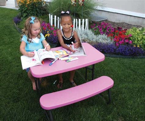 childrens folding picnic table 80156 lifetime children s picnic table pink folding table