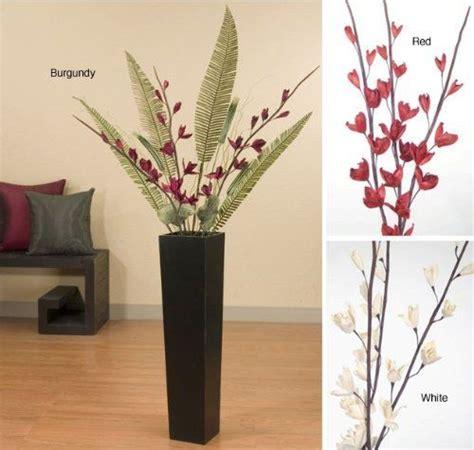 hm plant big floor vase sword lilies and palms in black floor vase white by