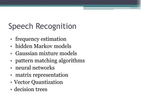 tree pattern matching algorithm ppt voice recognition powerpoint presentation id 1580215