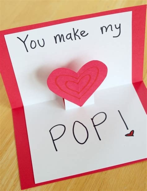 who made up valentines day pop up cards for your make and takes