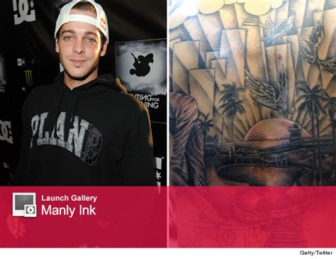 ryan sheckler back tattoo sheckler shows back tat toofab