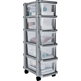 small drawer unit argos buy home 5 drawer plastic slim tower storage unit silver