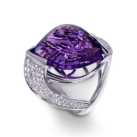 pave amethyst ring jewelry designs