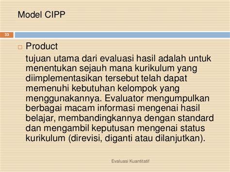 Lu Kerja Lu Belajar Masko He 725s model evaluasi kualitatif dan kuantitatif