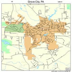 grove map grove city pennsylvania map 4231656
