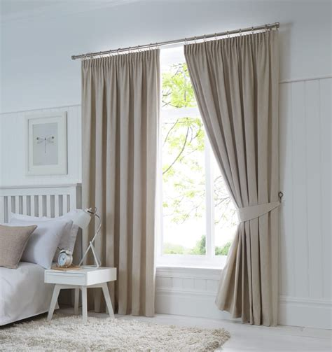 curtain linings 90 x 90 dijon ready made blackout pencil pleat curtains natural