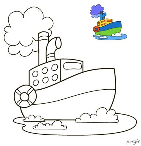 dessin bateau gommettes dessin 224 colorier pour les petits un bateau avec mod 232 le