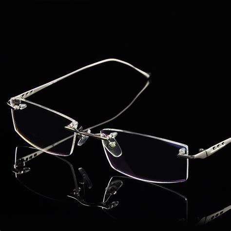 rimless eyeglasses frame titanium alloy rimless