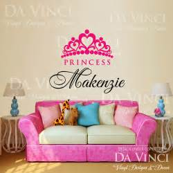 personalized wall stickers personalized custom girl name crown princess vinyl wall