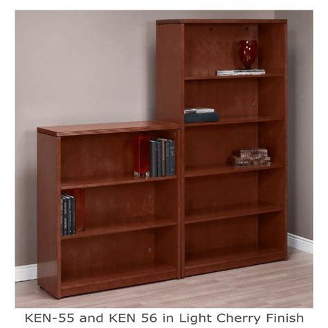 25 Inch Bookcase 5 Shelf Bookcase 70 Inch Mahogany Or Light Cherry