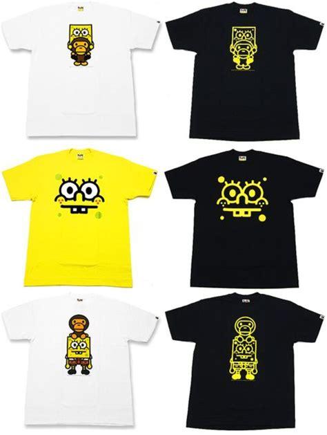 bape x spongebob new baby milo t shirt freshness mag