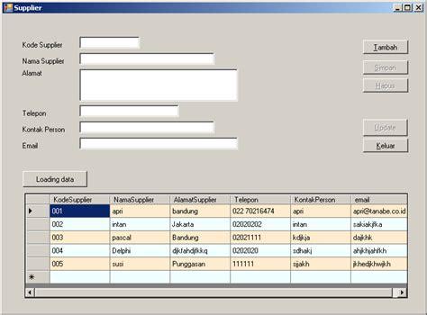 cara membuat database gudang dengan excel membuat program input dan edit data dengan vb net 2005 dan