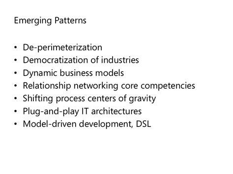 Pattern Emerging Meaning   emerging patterns de perimeterization