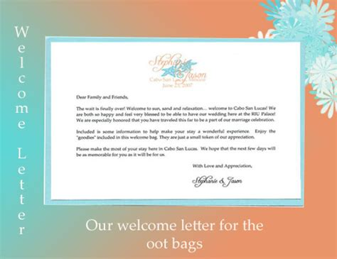 welcome letter destination wedding template 28 images