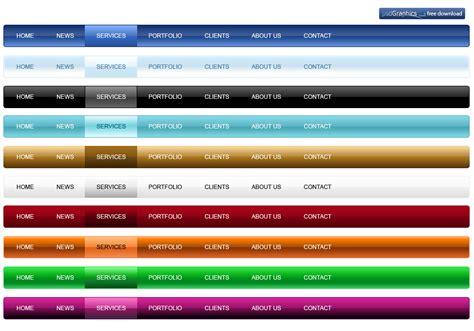 html design navigation bar menu psdgraphics