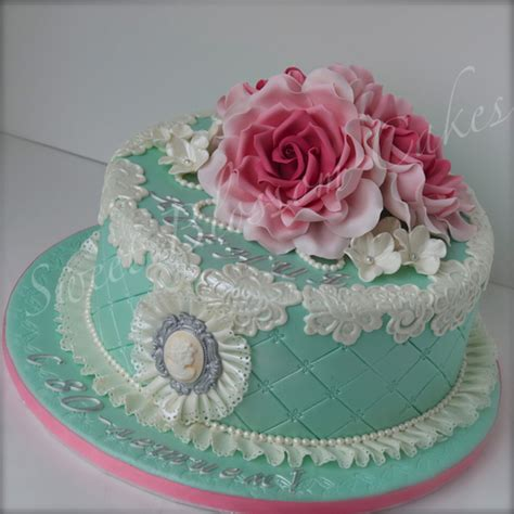 shabby chic birthday cake cakecentral com