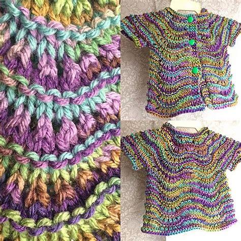 crochet wave ripple pattern stitch knitting bee lily ripple infant cardigan free knitting pattern