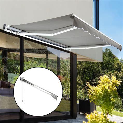 tende in alluminio outsunny tenda a braccio parasole con manovella in