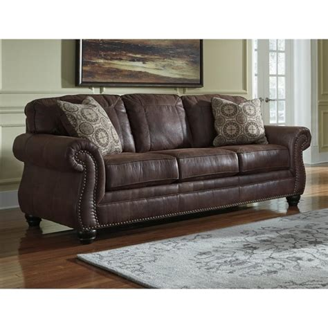 ashley sofa sleeper ashley breville faux leather queen size sleeper sofa in