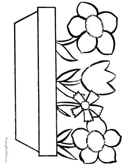 free coloring pages of easter flowers easter flower to color 003