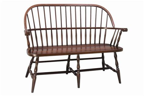 Franklin Sack Back Windsor Bench From Dutchcrafters Amish Furniture