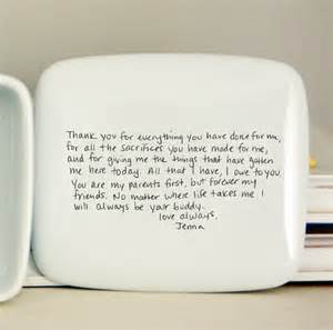 Thank You Letter To Mom For Wedding Handwritten Letter Box Message On Top Of Box Wedding Thank