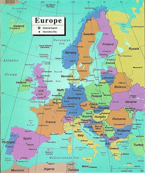 europe map all countries maps of europe region country