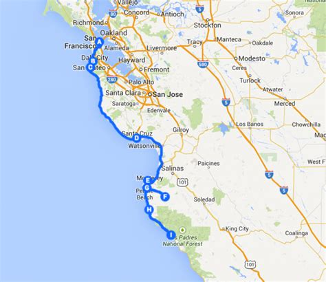 Map Of Pch - 3 days on the pacific coast highway road trip itinerary