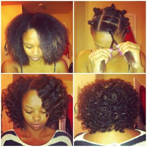 before you braid or twist your natural hair low manipulation heat free waves bantu knots are great for