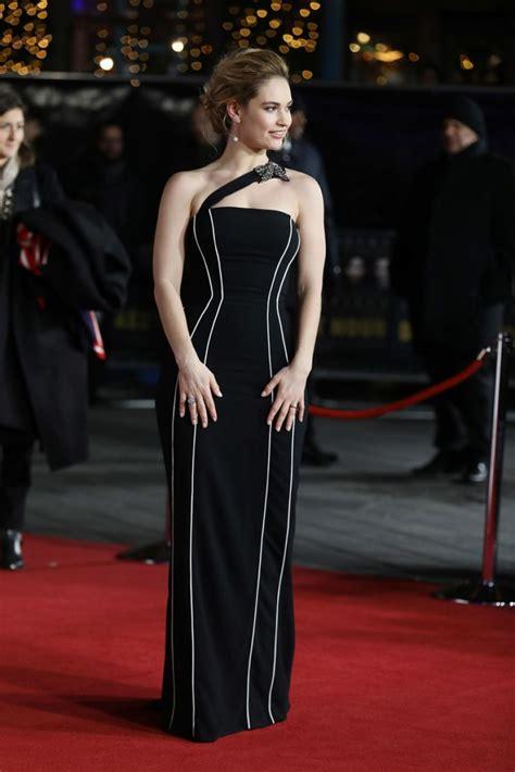 darkest hour premiere lily james at darkest hour premiere in london celebzz