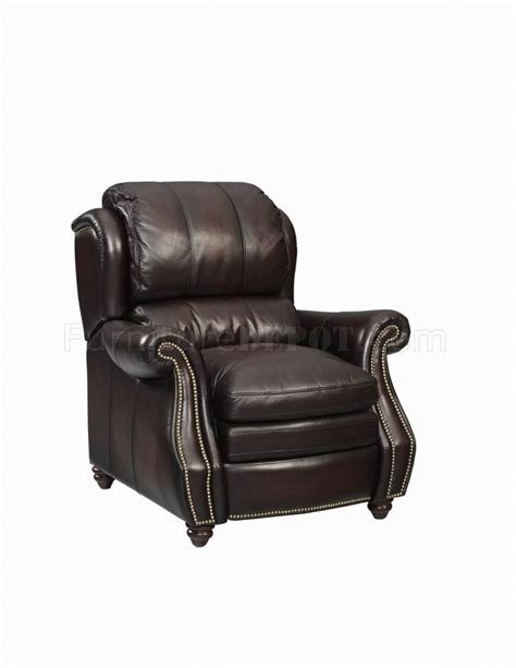 Leather Push Back Recliners by Leather Italia Burgundy Classic Bridgeport Push Back Recliner