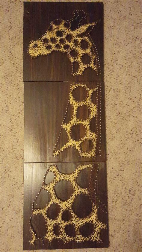 giraffe string string giraffe gift for 3 panel giraffe