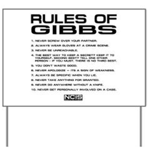 printable version of gibbs rules updated and printable verison of my ncis gibbs rules