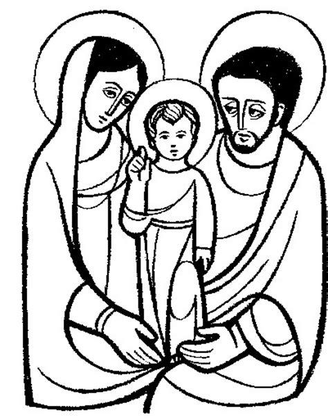 imagenes en blanco y negro de la sagrada familia colorea tus dibujos dibujo de la sagrada familia para