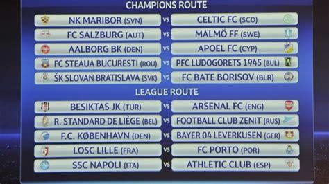 Calendario Uefa Chions League 2014 15 Blogoldiez Sorteo Fase Previa Ucl Y Uel