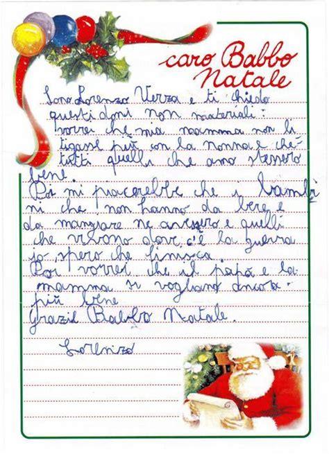 le lettere di babbo natale le letterine a babbo natale