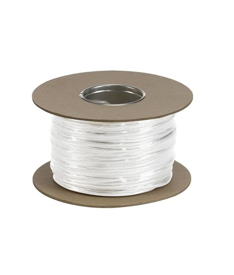 white low voltage wire cable tension wire insulated offered in clear white