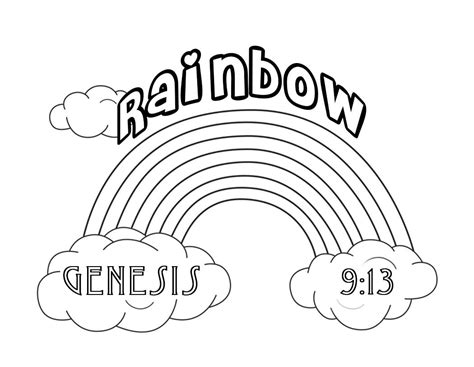 Christian Rainbow Coloring Pages | free christian coloring pages for kids children and