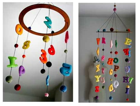 Handmade Mobiles - fab mums 187 cool etsy find felt alphabet letters numbers