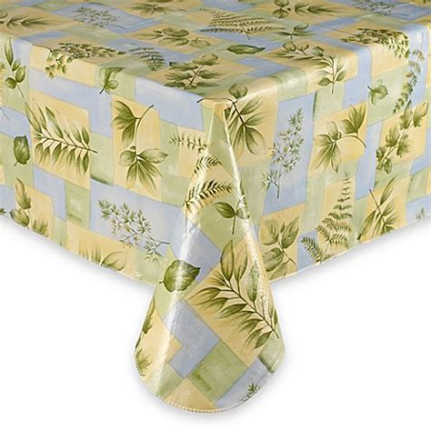 bed bath beyond tablecloths leaf melody vinyl tablecloth bed bath beyond