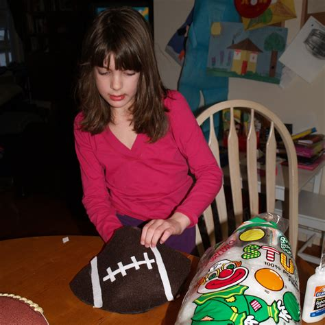 tracey knits tracey knits is sports craft football pillow