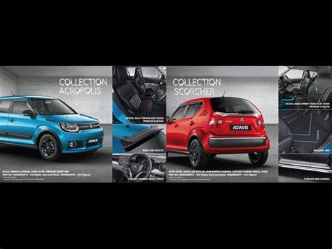 List Kaca Sing Suzuki Ignis 2017 maruti suzuki ignis accessories list drivespark