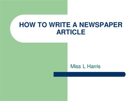 Writing A News Report Ppt by Newspaper Article By Lowrip1ckle Teaching Resources Tes