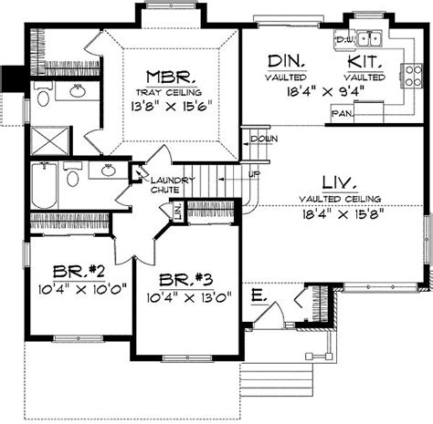 Split Level Home Floor Plans by Best 25 Split Level House Plans Ideas On Pinterest