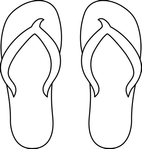 flip flop template flip flop coloring sheet clipart best