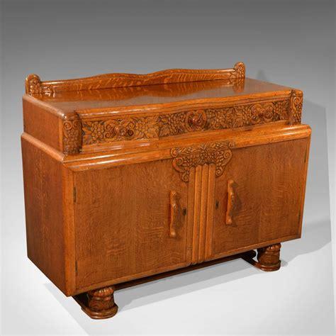 Vintage Art Deco Sideboard English Buffet Cabinet Oak Vintage Buffet Sideboard