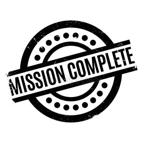completed rubber st mission accomplished st stock vector 169 lkeskinen0