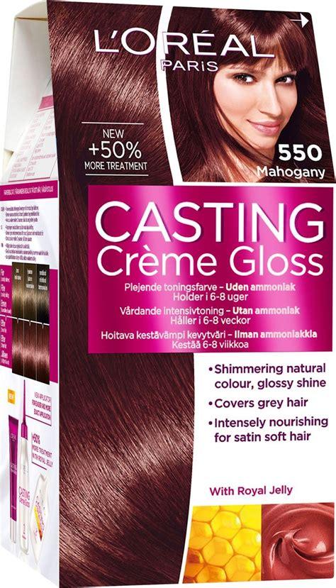 L Oreal Creme Gloss loreal creme gloss 550 mahogany hair color