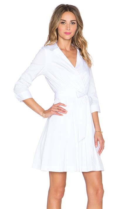 8 Pretty Wrap Dresses by Milly Pleated Wrap Dress In White Lyst