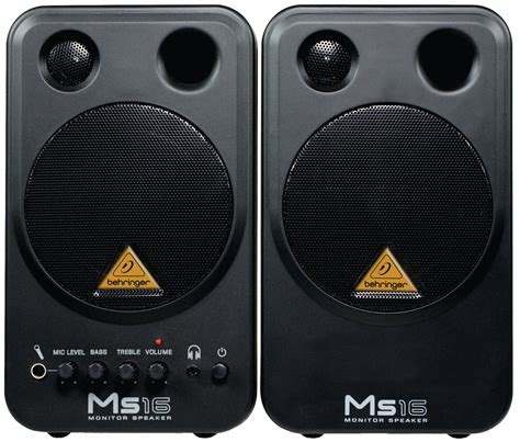 Speaker Monitor Behringer Ms16 16 Watt behringer ms16 monitor speakers high performance active